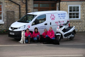 Our Lovely team with our lovely dogs!